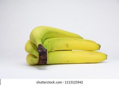 Group of bananas isolated on white background