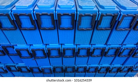 Group of batteries in the store for installation in the base station of the telecommunication system. To be a backup power system in case of main power system outage.