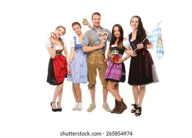 Group of bavarian people