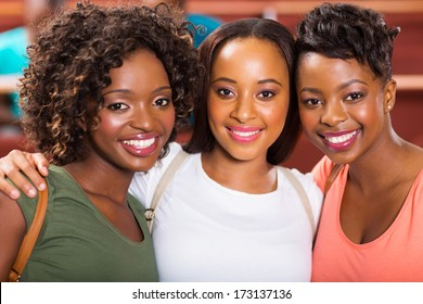 group of beautiful female college friends