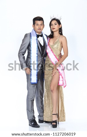 Group Beauty Pageant Formal Dress Evening Stock Photo Edit Now