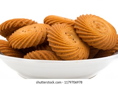 group of biscuit in caramic tray or dish