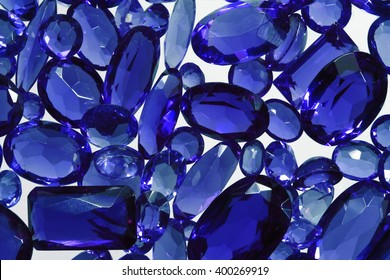 Group of the blue sapphires.