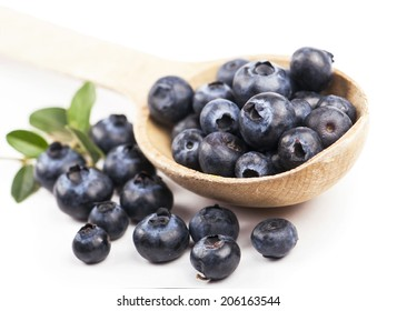 Group of blueberries. Isolated on the white