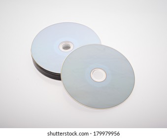 a group of blue-ray disk on white background