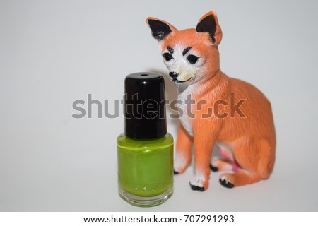 Group Bright Nail Polishes Isolated On Stock Photo Edit Now
