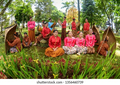 Group of Bundengan players from Selomerto Middle School.Bundengan is a musical instrument from bamboo segment petals that are given strings and bamboo blades.11-11-2017 at 10.41 Am