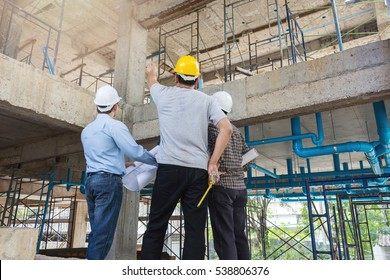 Group business man construction site engineer
