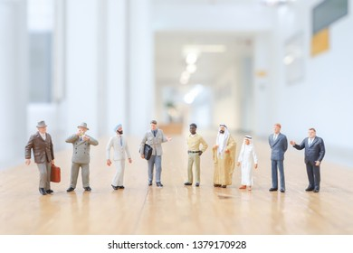 Group of business mini of working people standing