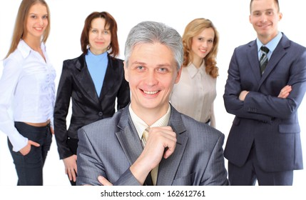 A group of business people