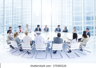 Group of Business People at a Conference in the City