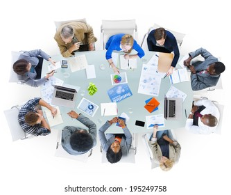 Group of Business People Discussing Business Isuses