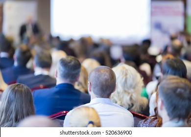 Group of Business People Listening on The Conference. Horizontal Image