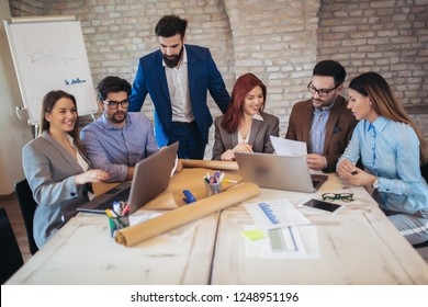 Group business people meeting to discuss ideas in modern office