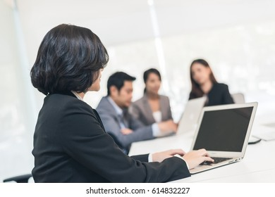 group business people meeting in office