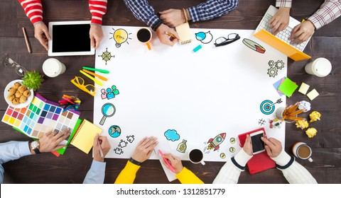 Group of Business People in a Meeting on
