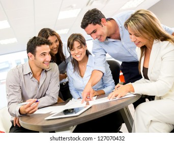 Group of business people at the office