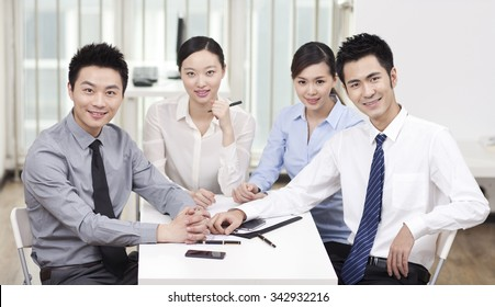 Group of business people in office,portrait
