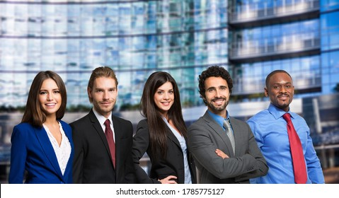 Group of business people outdoor