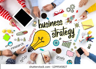 Group of Business People with Business Strategy Concept