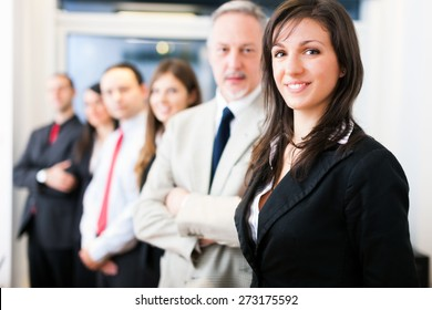 Group of business people in their office