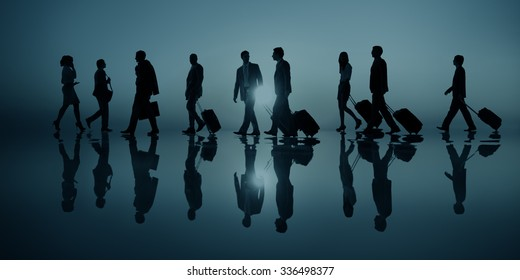 Group of Business People Traveling Destination Concept
