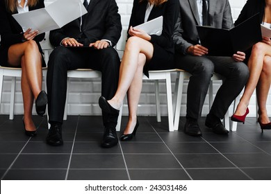 Group of business people waiting in waiting room