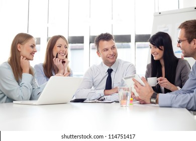 Group of business people working