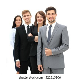Group of business people at workplace