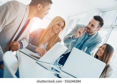 Group of business people.Portrait of successful businesspeople team.