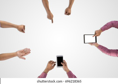 Group of Business team working meeting planning for a new project isolated on white background.