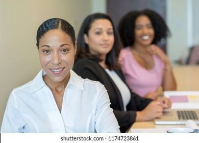 Group of business woman working in an office.