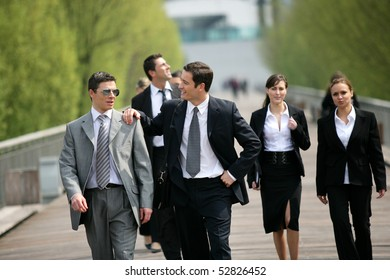 Group of businessmen and businesswomen