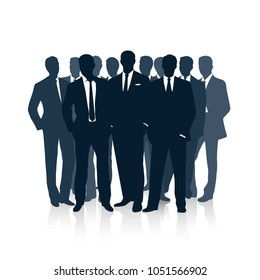 Group of businessmen. the concept of team business.