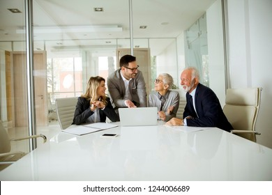Group of businesspeople in conference room during a meeting in office