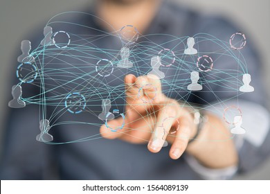 group of businessperson. Global business network concept