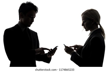 Group of businessperson using smart phones.