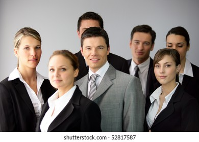 Group of businesswomen and businessmen