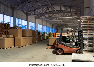 Group of cardboard boxes, parcels in the warehouse