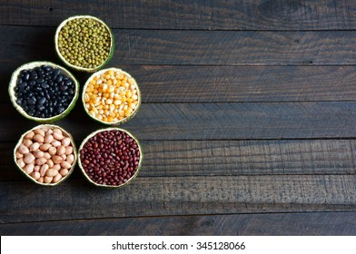 Group of cereals, healthy food, rich vitamin b, fibre, rich carbohydrates and protein, use grain everyday can help lose weight, reduce calories,  prevent cancer and antioxidant, this food very cheap