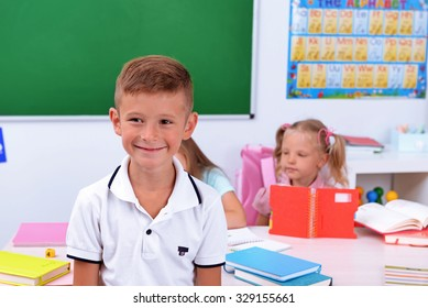 Group of children in the classroom