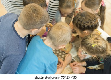 group of children decide the task