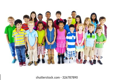Group of Children Friends Smiling Happiness Concept