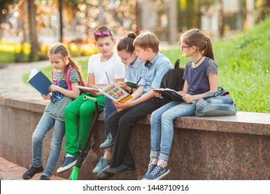 a group of children goes to college