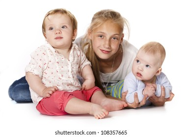 group of children, the little boy and girls