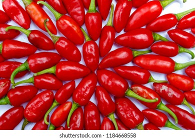 Group chili peppers( chile pepper, chilli pepper, chilli) isolated white background.Substances give chili peppers their intensity when applied  capsaicin and related compounds known as capsaicinoids.