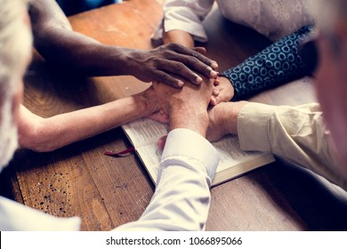Group of christianity people praying hope together