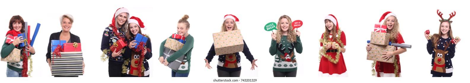 Group of christmas people