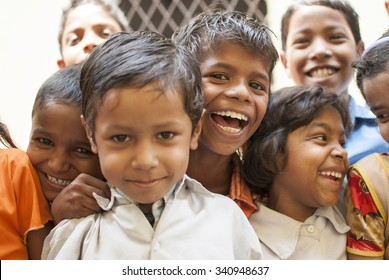Group of classmates - NEW DELHI; INDIA - MAY 17TH 2015