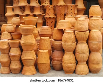 Group of clay vases